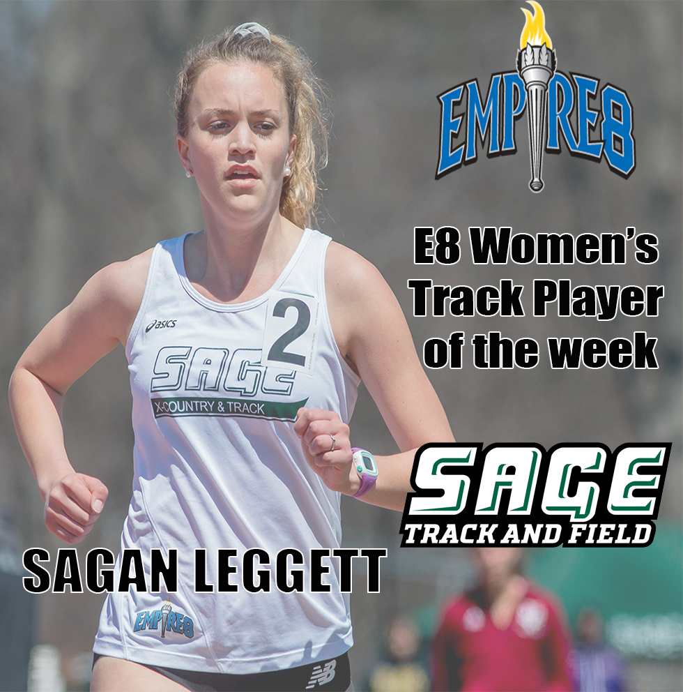 Sagan Leggett Honored as Empire 8 Women's Track Athlete of the Week