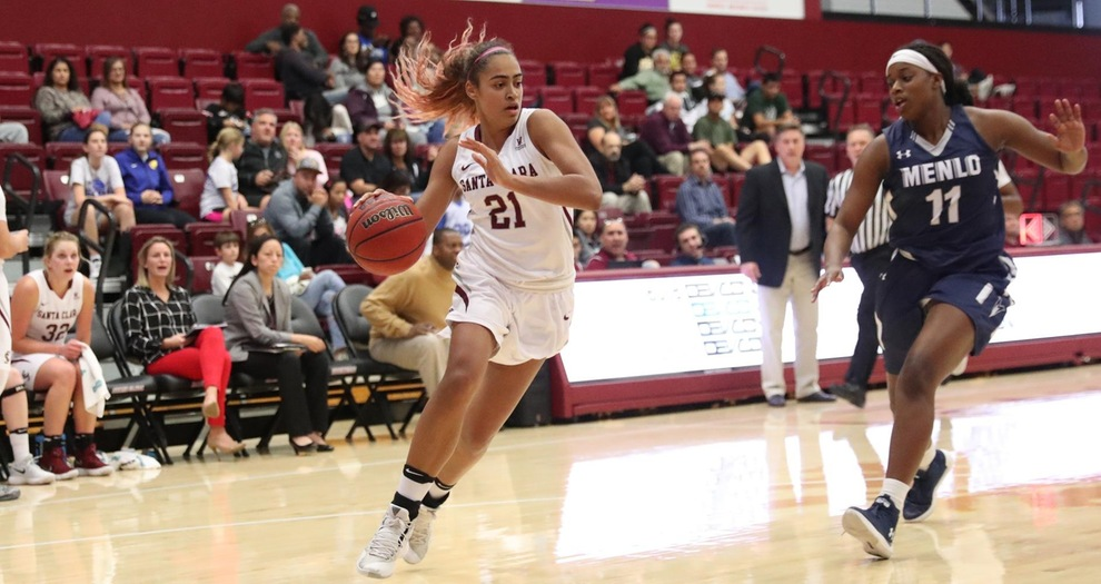 Women's Basketball Cruises Past Menlo 104-61