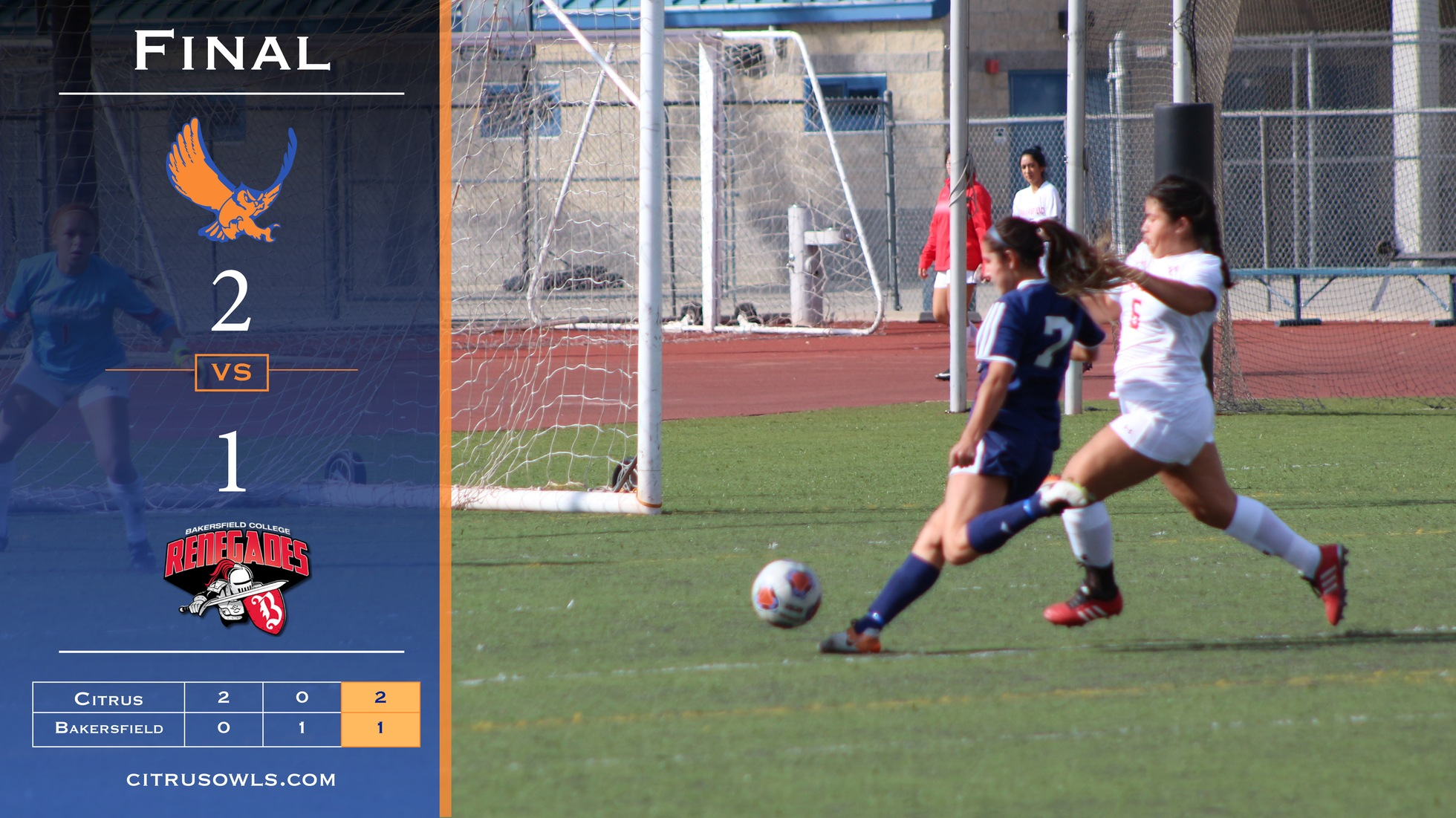 Women's Soccer Holds Off Bakersfield In 2-1 Victory
