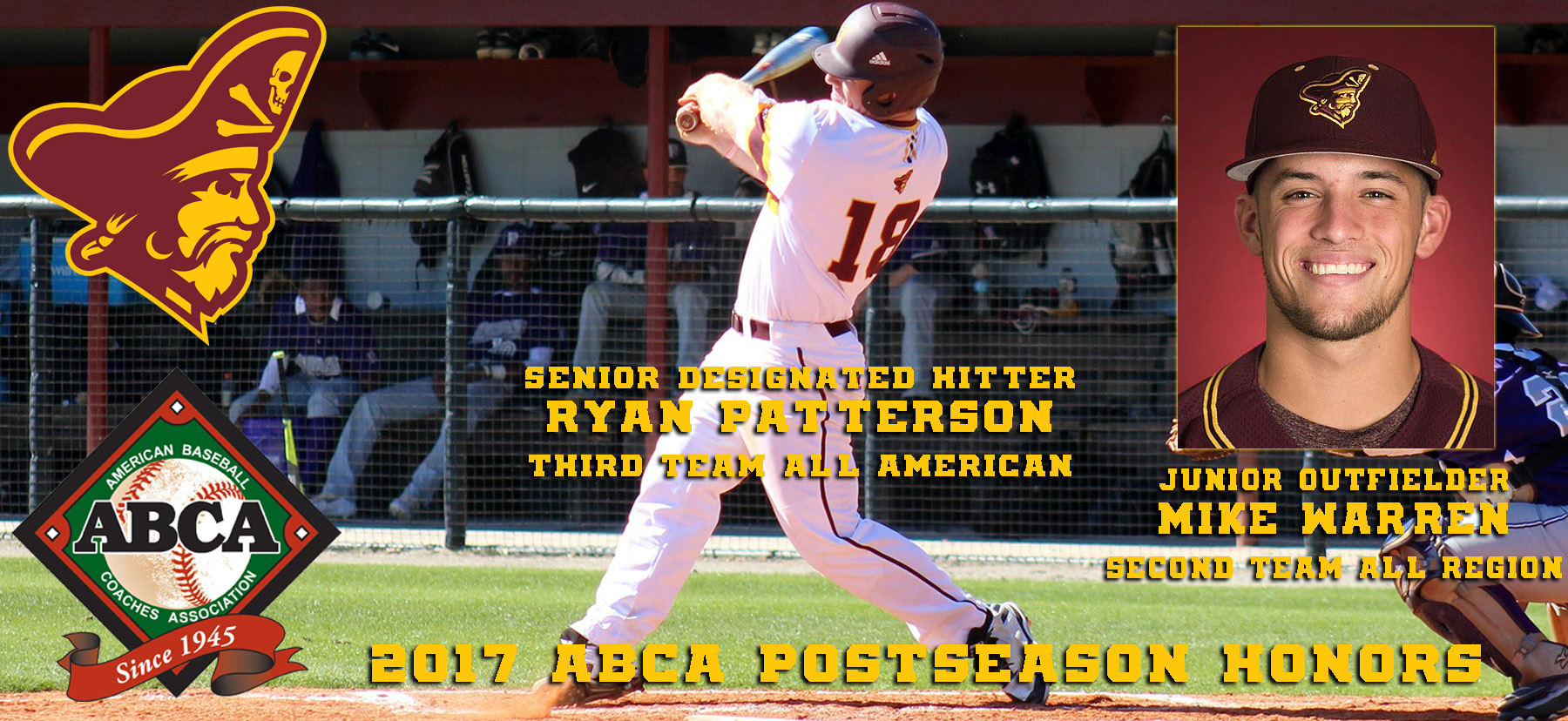 ABCA Honors Armstrong State's Patterson, Warren