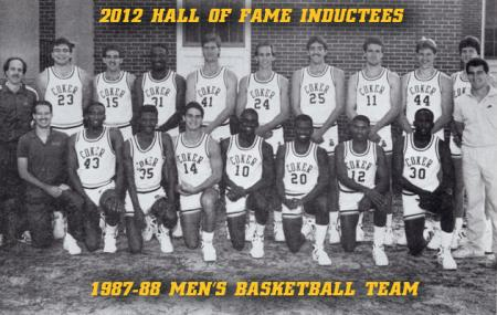 Coker Inducts 1987-88 Men's Basketball Team into Hall of Fame