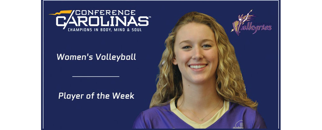 Yohe Tabbed Conference Carolinas Volleyball Player of the Week