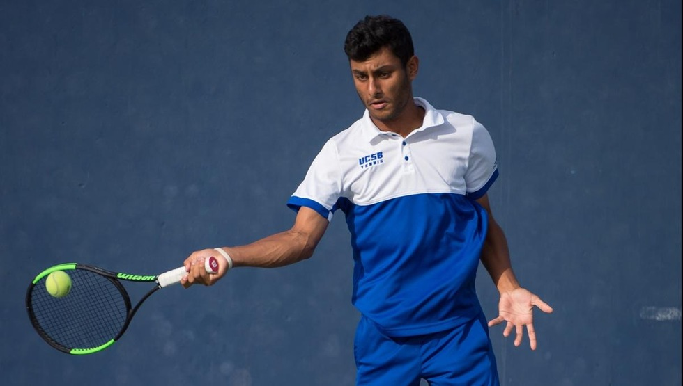 Freshman Ajai Shekhera won his first NCAA match today with a straight-set win on court six.