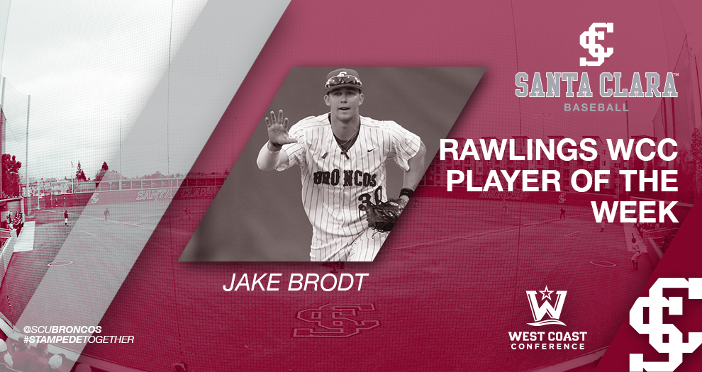 Baseball's Brodt Named Rawlings WCC Player of the Week