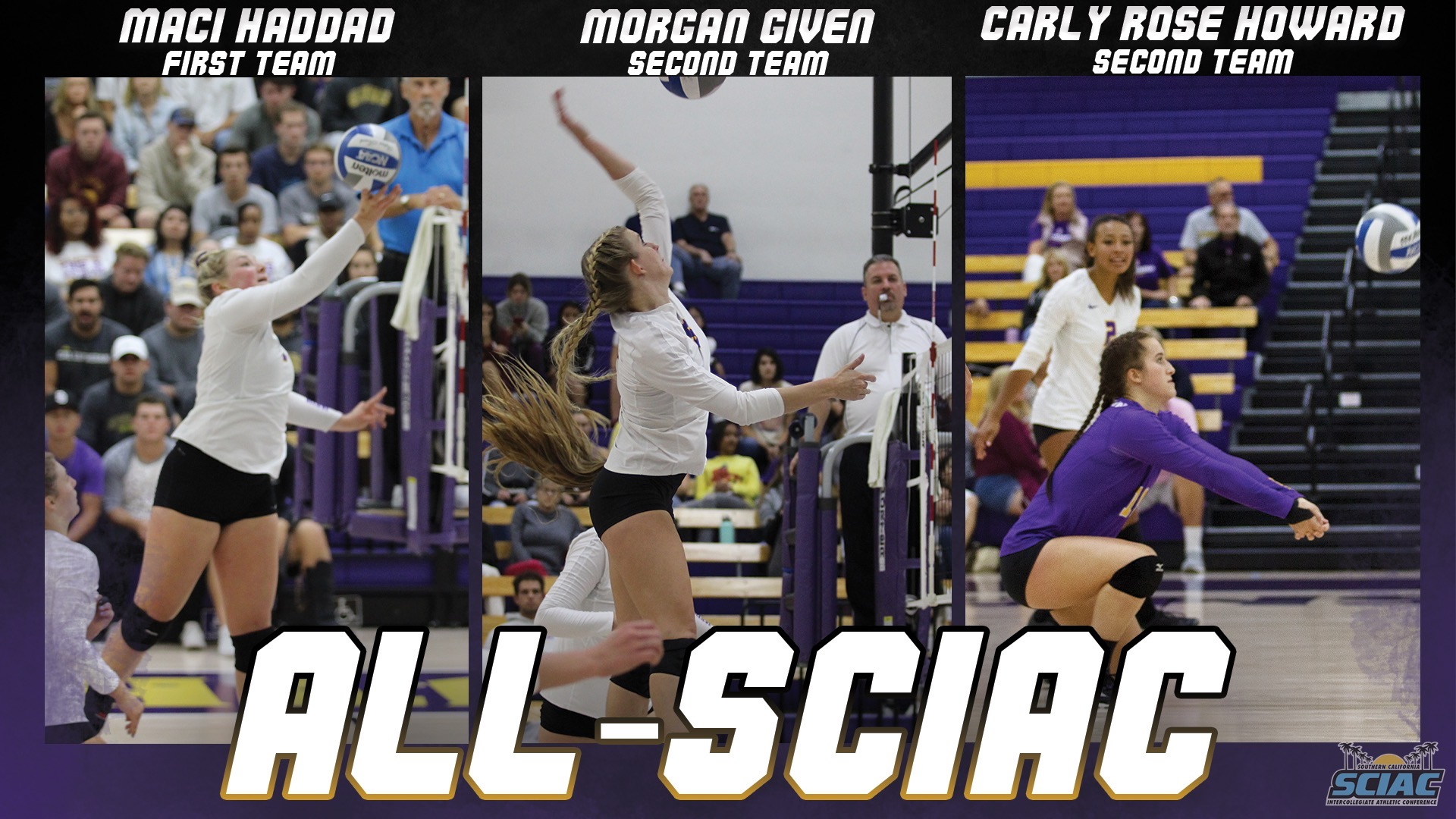 Haddad First Team All-SCIAC; Given, Howard Second Team