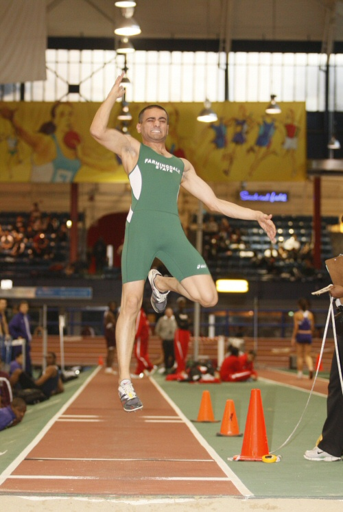 Hairston Wins Triple Jump at Monmouth Invitational