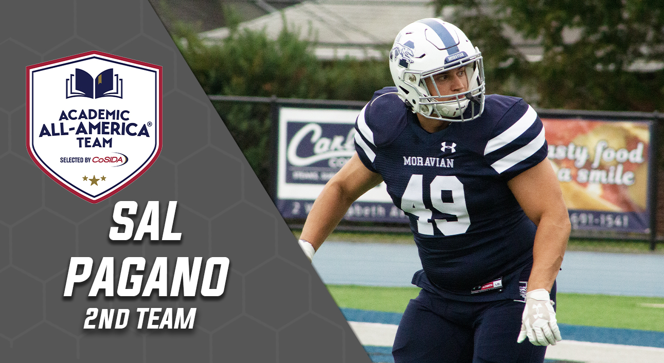 Sal Pagano honored on the CoSIDA Academic All-America Second Team
