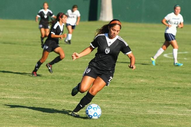 File Photo: Cassie Reyes (23) assisted on the first Falcons goal in their 2-1 win over San Francisco City College
