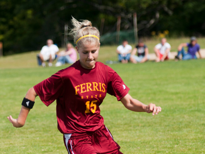 Kasey Ruimveld's first career goal was the game winner in FSU's 3-0 victory.  (Photo by Ed Hyde)