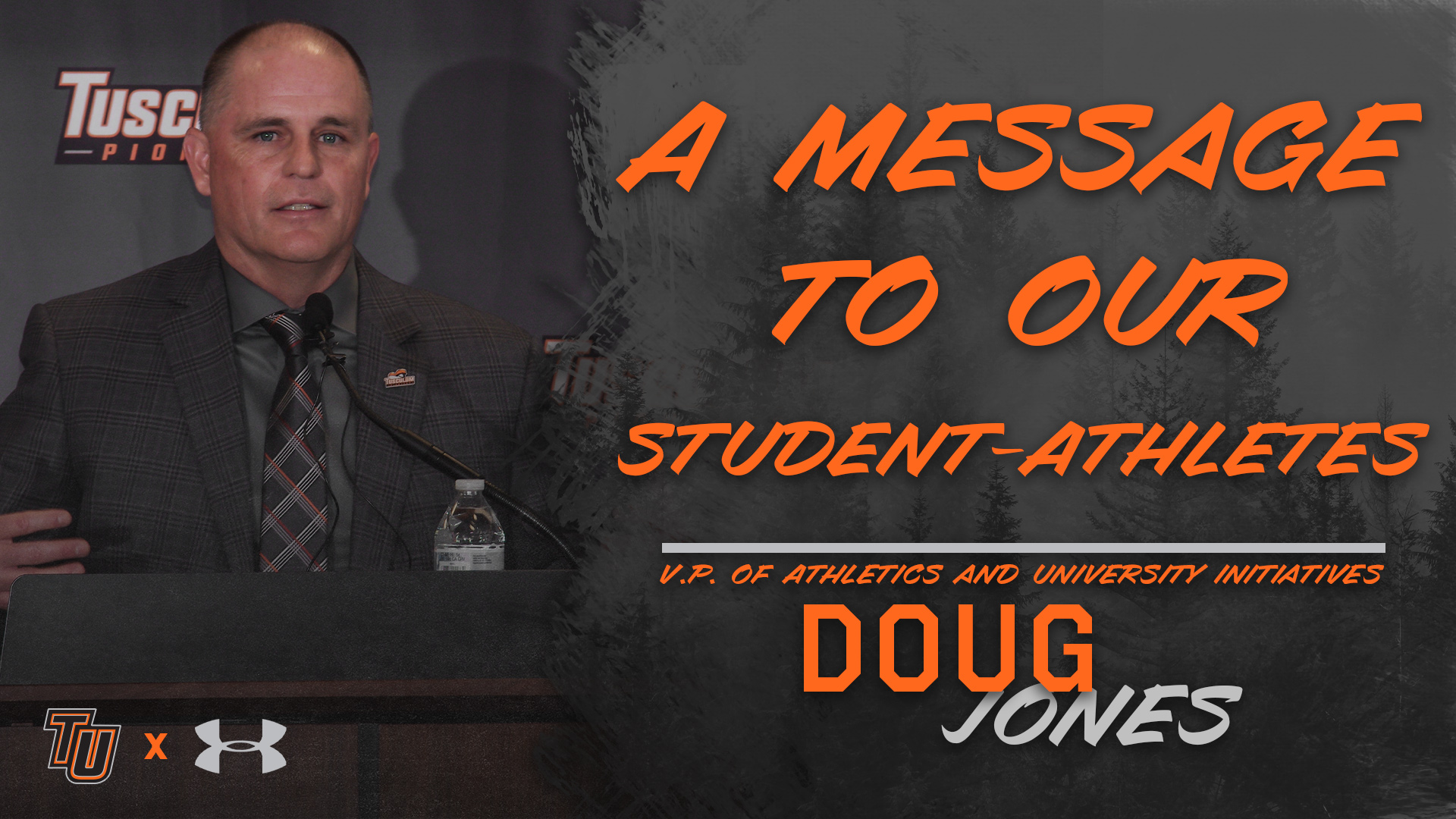 A message to student-athletes from VP of Athletics Doug Jones