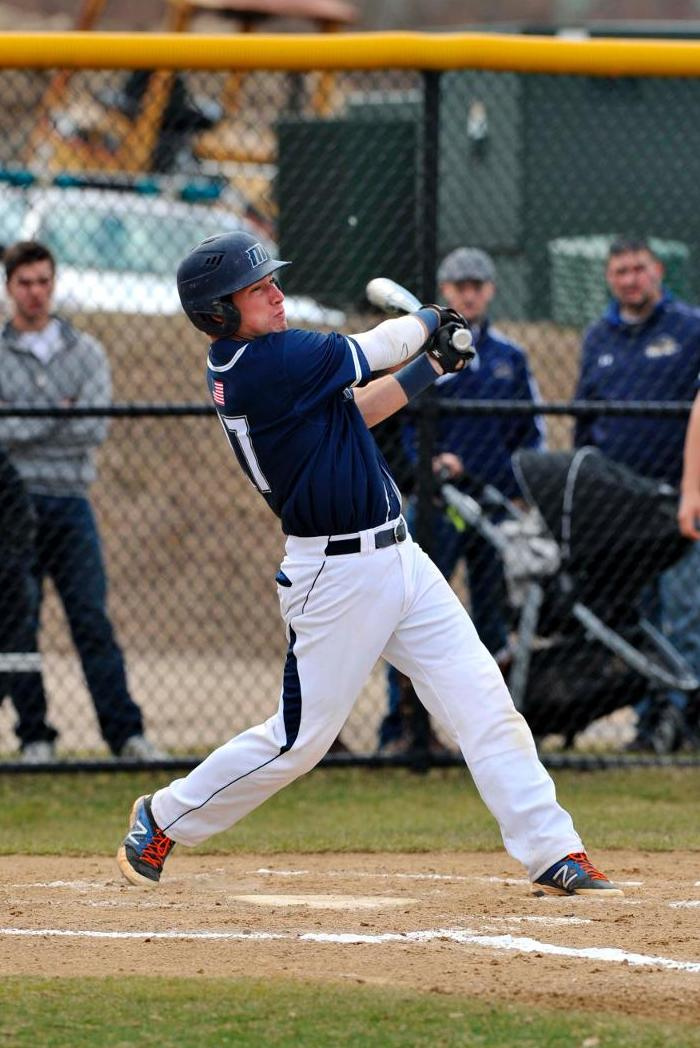 Pelletier Raps Out Three Hits In Support Of Rozak's First Career Victory As Baseball Notches 7-1 Triumph Over Wentworth