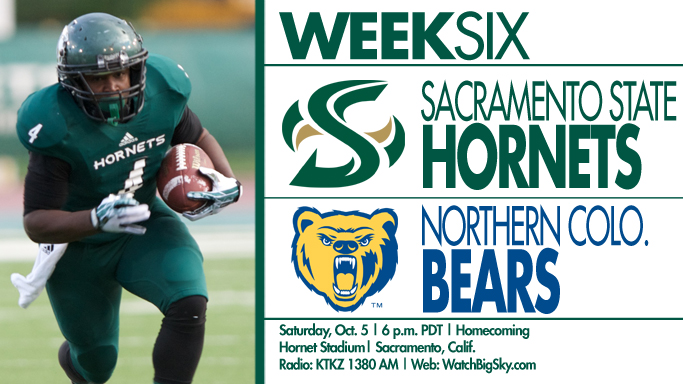 FOOTBALL HOSTS NORTHERN COLORADO FOR HOMECOMING ON SATURDAY