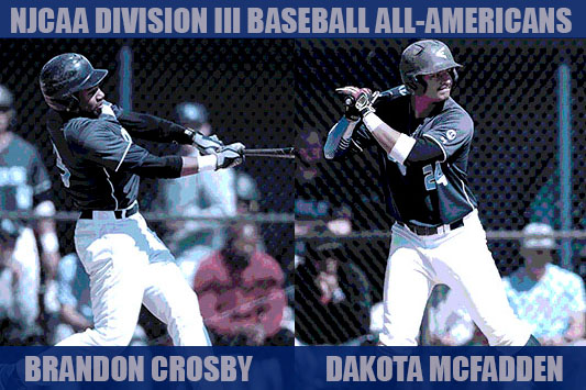 Crosby Named NJCAA Baseball Division III First Team All-American; McFadden Nabs Third-Team All-American Status