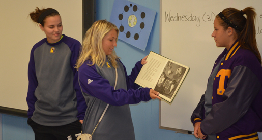Tennessee Tech soccer team shares in story time at NE Elementary