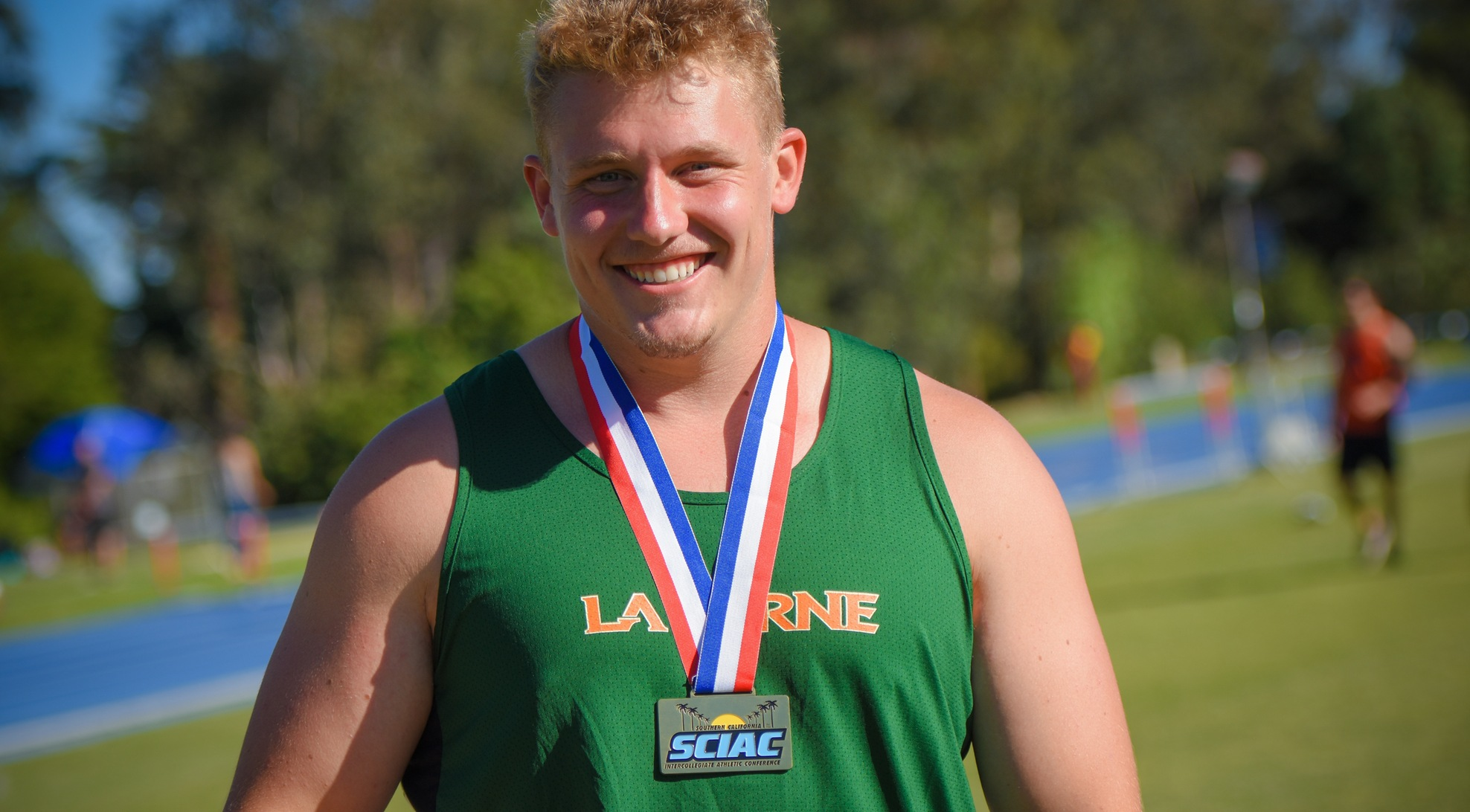 Randall claims shot put, Men's Track and Field finishes third in SCIAC