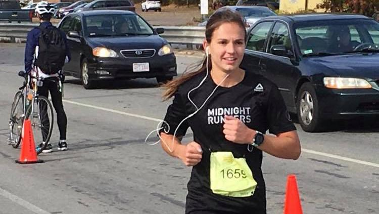 Kayley Ryan '14 made her second appearance in a marathon on Sunday, October 21, going the distance in the Baystate Marathon.