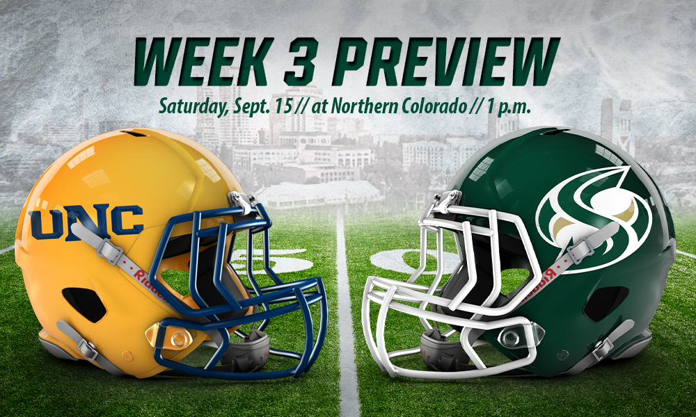 FOOTBALL REMAINS ON THE ROAD FOR NON-CONFERENCE GAME AGAINST NORTHERN COLORADO