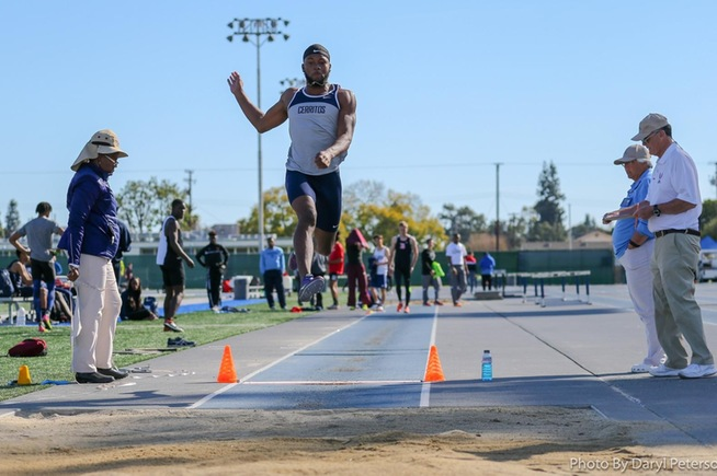 File Photo: Titus Houston won the long jump at Occidental College