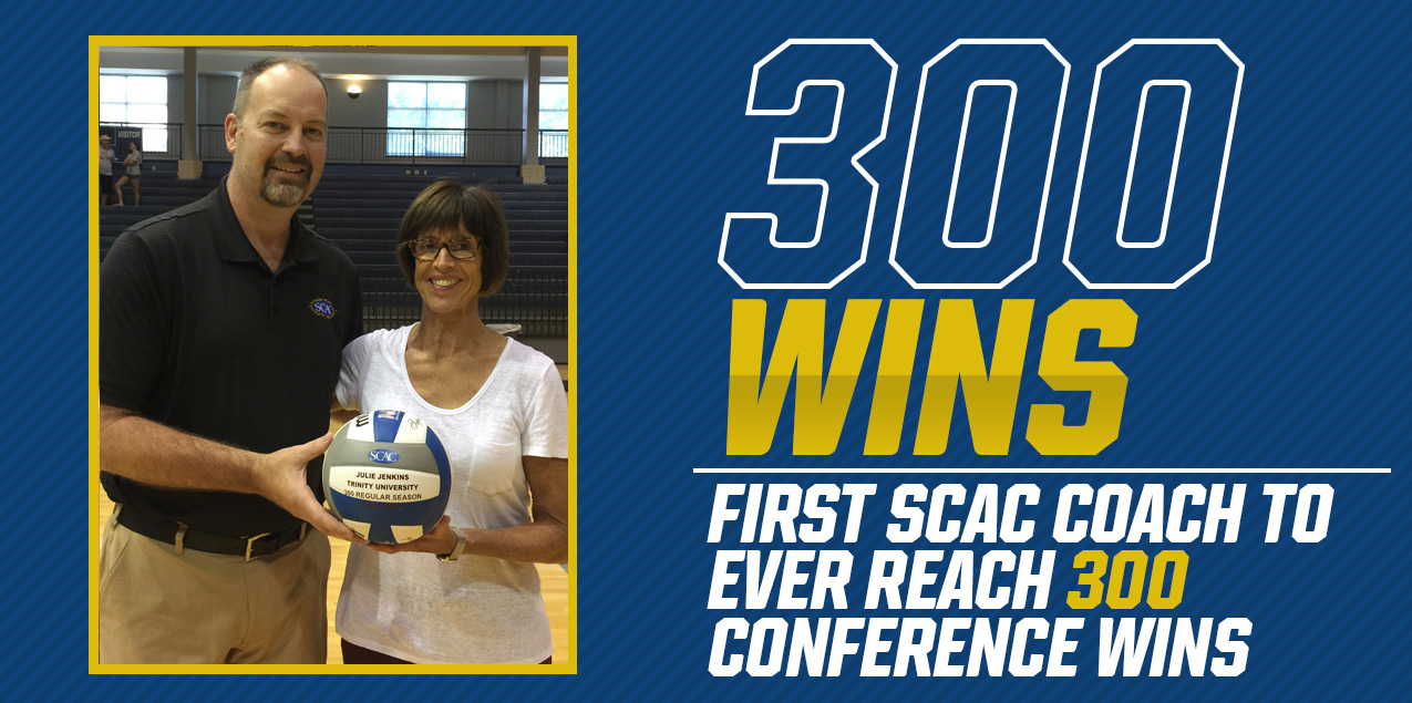 Trinity's Jenkins Becomes First SCAC Coach to 300 Conference Wins