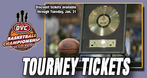 Get 'em here: Discount tickets on sale through Tuesday for OVC Tournament