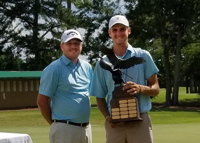 Huntingdon's Drew Mathers (right) won the Spirit of America Classic with a 13-under-par 271. (Photo submitted)