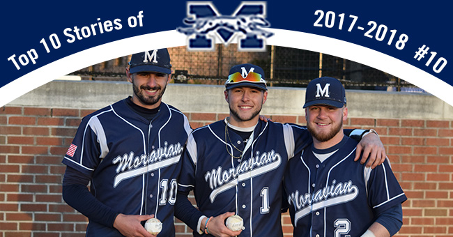 No. 10 on the Top 10 Stories of 2017-18 is juniors Mike Mittl, Austin Markowski & Evan Kulig each reaching 100 career hits in the same game.