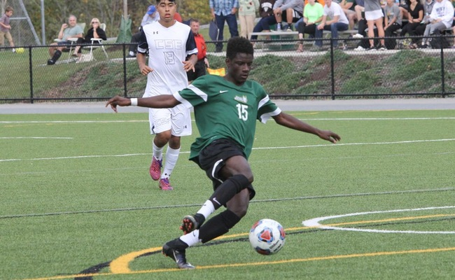Samba Doukhansy (15) scored a pair of goals for Keuka College on Sunday -- Photo by Ed Webber