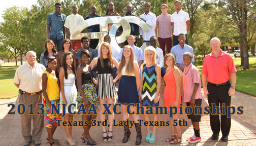 Texans finish 3rd, Lady Texans 5th at NJCAA Cross Country Championships
