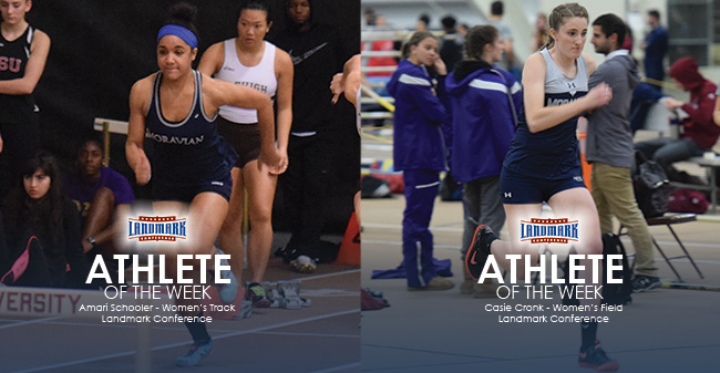 Amari Schooler '19 and Casie Cronk '18 honored as Landmark Conference Athletes of the Week.