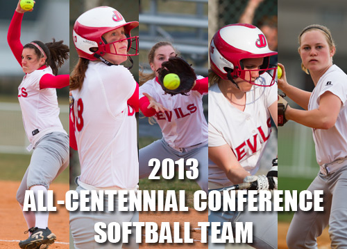 The Red Devils earned five spots on the 2013 All-Centennial Conference Softball Team<BR>