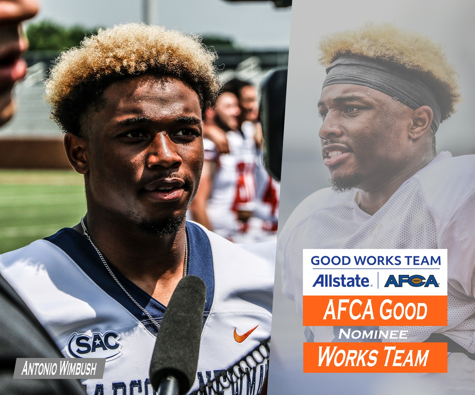 Wimbush nominated for AFCA Allstate Good Works Team