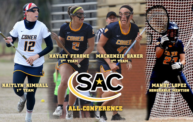 Coker's Kimball, Ferone, Baker, and Lopez earn All-SAC Honors