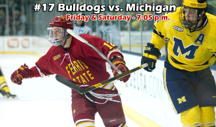 #17 Ferris State Hosts Michigan In CCHA Weekend Series
