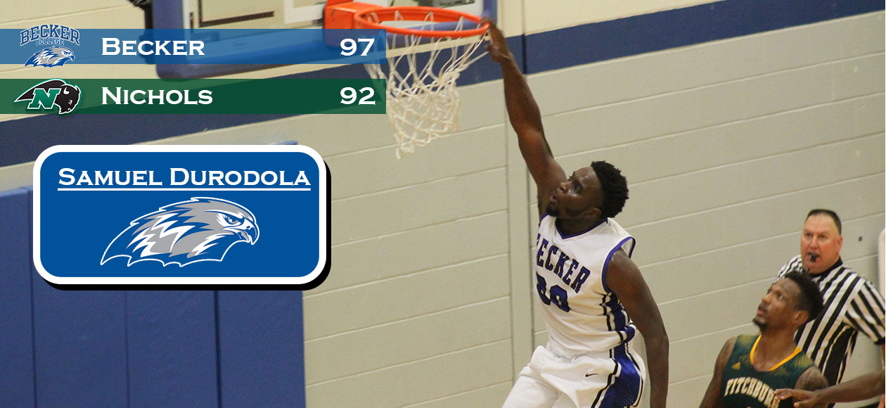 Men's Basketball defeats cross-town Nichols, 97-92