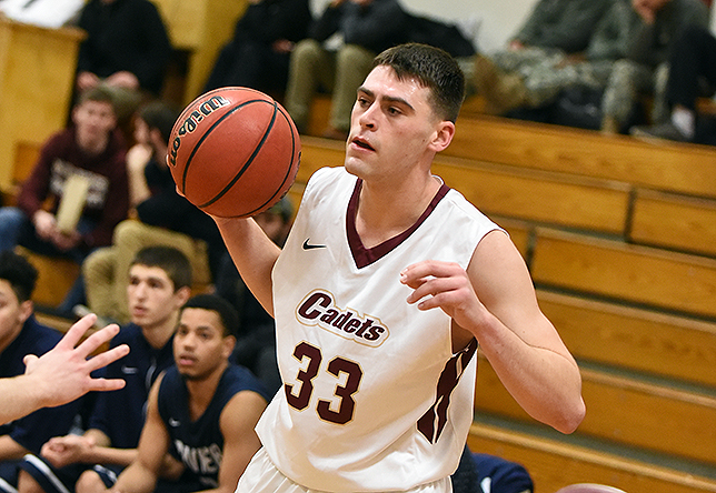 Men's Basketball: Norwich Halted by Saint Joseph's (Maine), 71-59