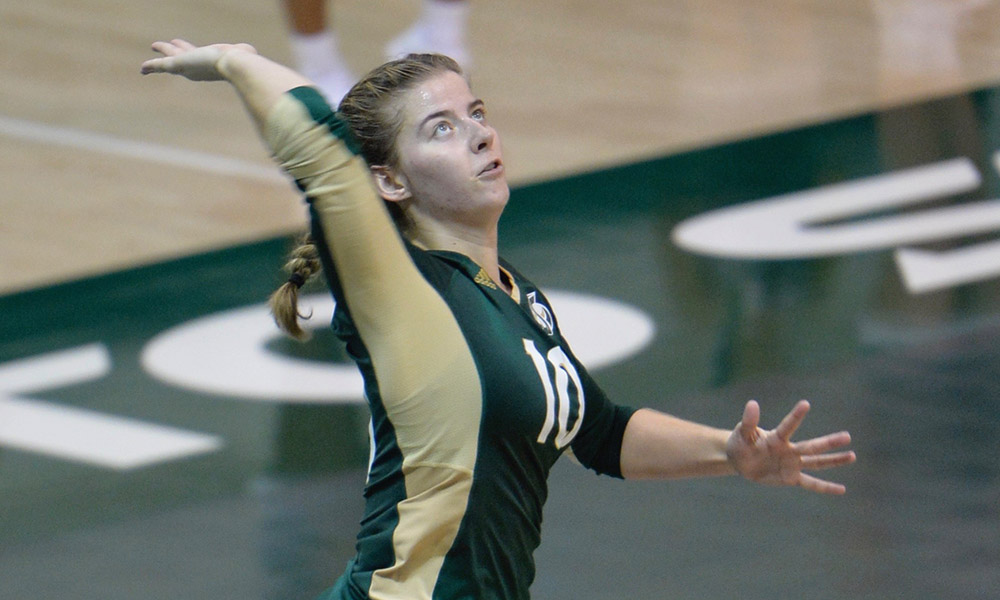 VOLLEYBALL OPENS DENVER CLASSIC WITH 3-1 VICTORY OVER McNEESE STATE