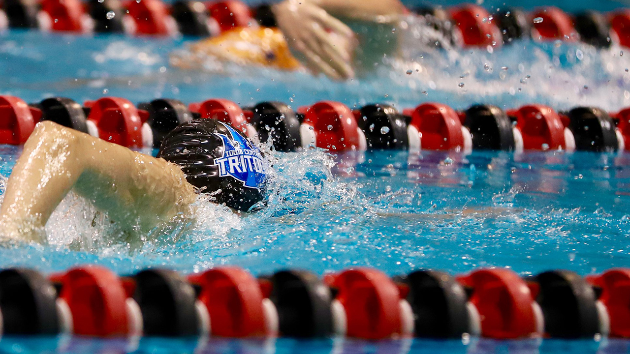 Iowa Central swim team in action