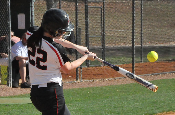 Softball: Emily Cauldwell throws 4-hit shutout as Panthers split with Judson