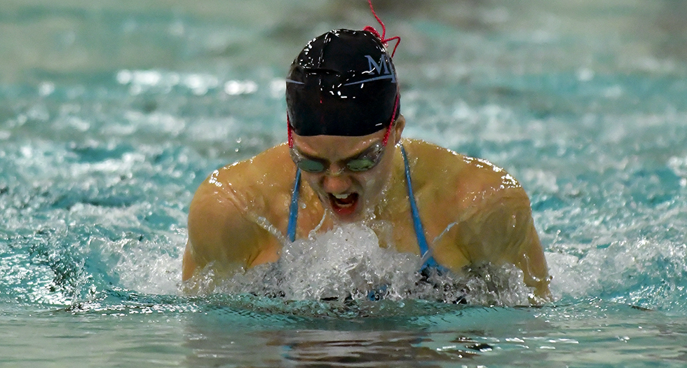 Swimming & Diving Sits 9th After Day 3 of NEWMAC Championships