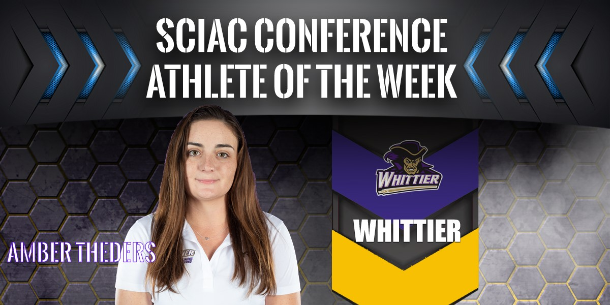 Amber Theders named SCIAC Athlete of the Week