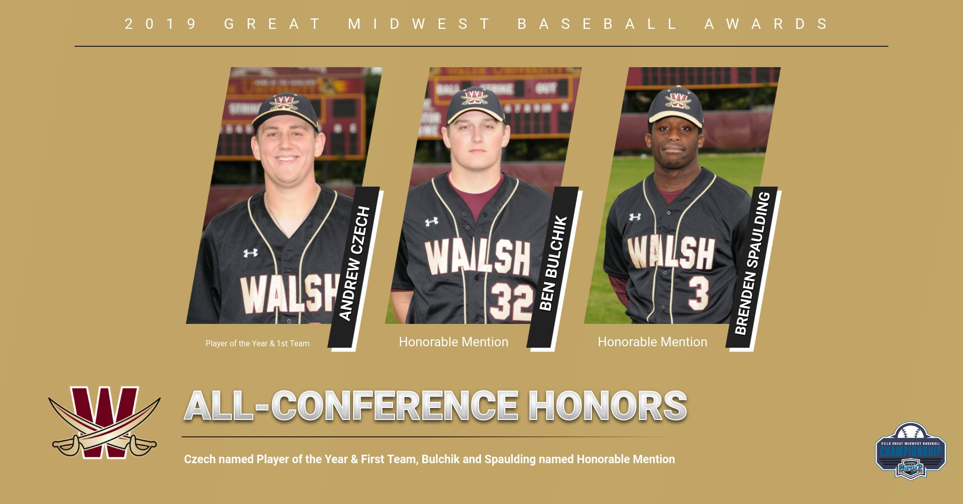 Czech Named Player of the Year, Three Cavaliers Named All-Conference