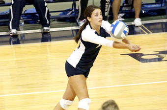 Brandeis volleyball roars past Emerson, 3-0