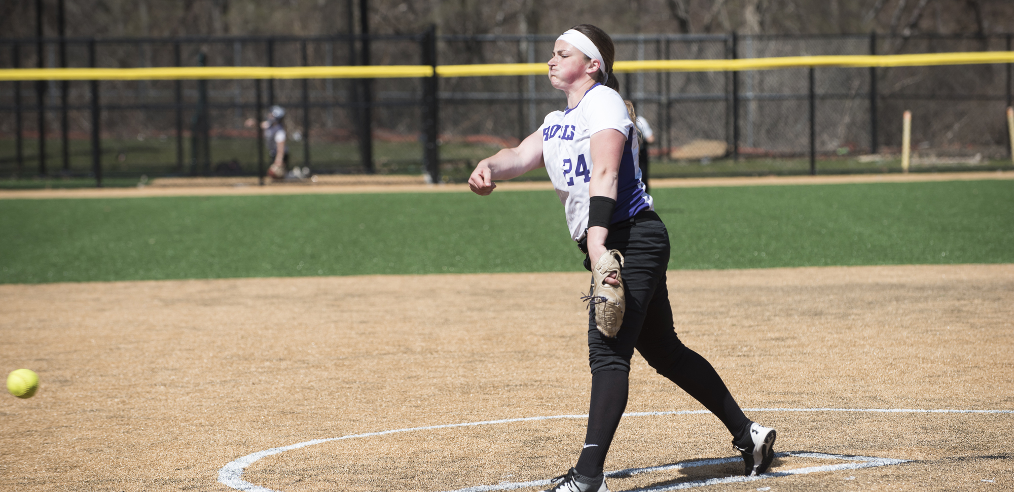 Sophomore Jennifer Sweeney tossed a one-hit, complete game on Saturday against Washington & Jefferson to help the Royals take a 5-1 win on Saturday.
