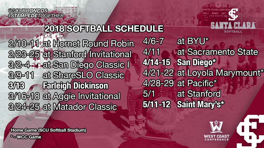 Softball Announces 2018 Schedule