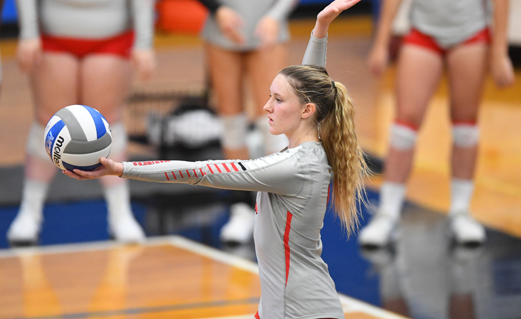 NEC Edges Women's Volleyball