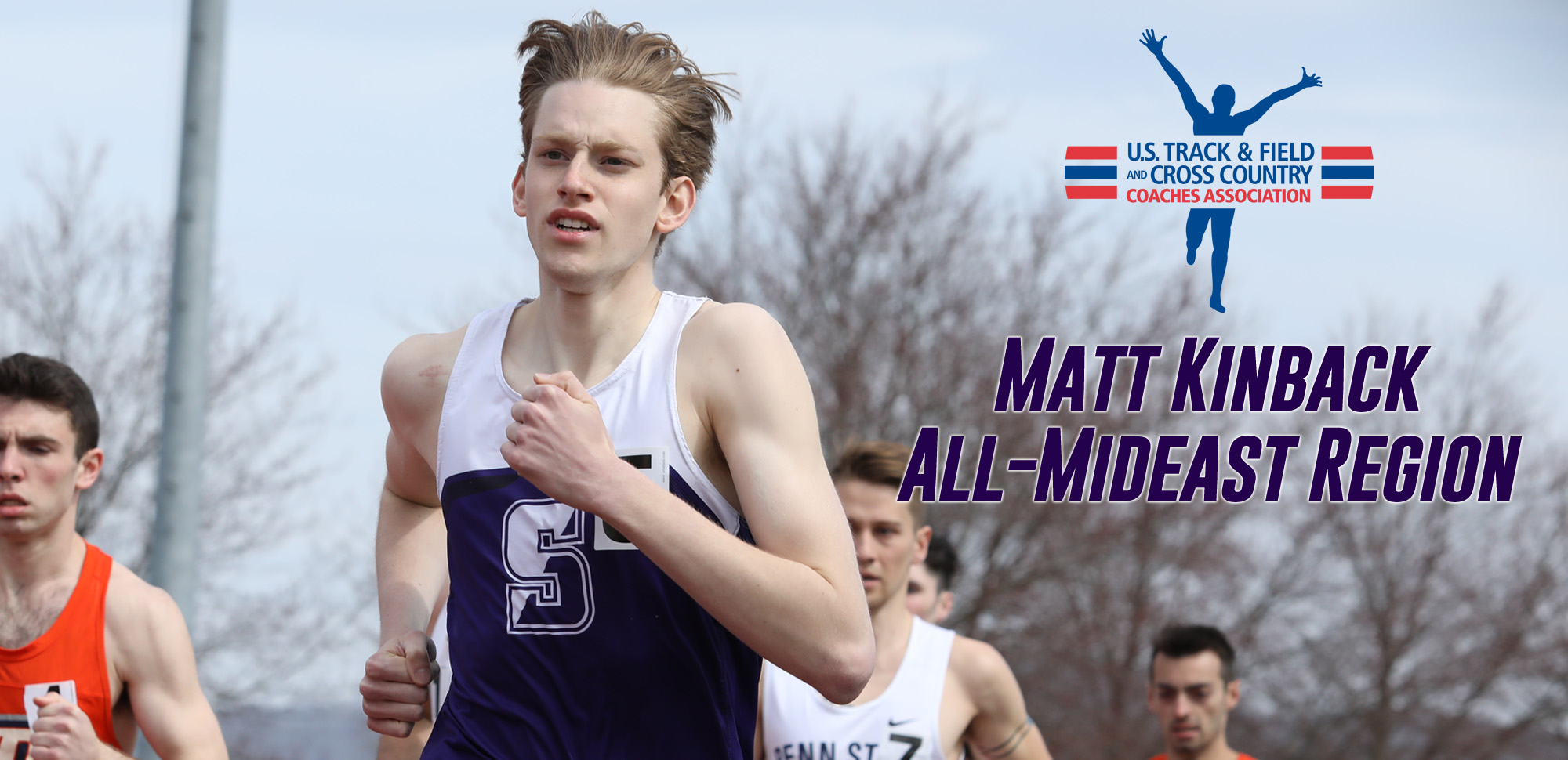 Sophomore Matt Kinback of the men's track & field team has earned All-Region honors in the 800 meter run. © Photo by Timothy R. Dougherty / doubleeaglephotography.com