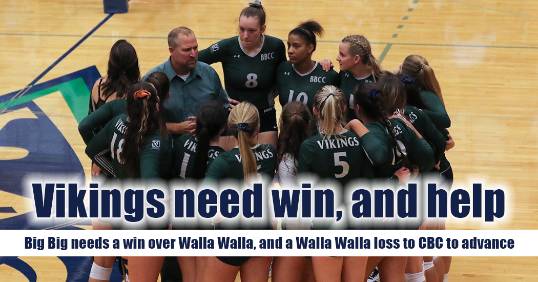 Big Bend volleyball's postseason dreams took a hard turn on Wednesday night on the road at Columbia Basin in the form of a five-set loss, 3-2. The Vikings will now need some help from the team that just beat them if they are going to sneak into the Northwest Athletic Conference (NWAC) playoffs.