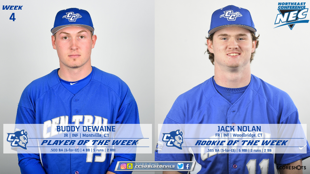 Baseball Duo Earn Weekly Northeast Conference Honors