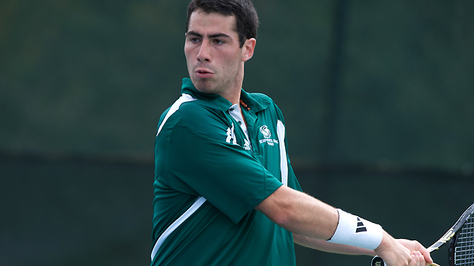 SHORT-HANDED MEN'S TENNIS EARNS FIRST WIN OF THE SEASON