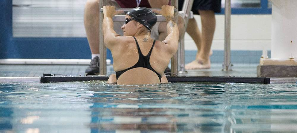GU women's swimming team wins and men's team hangs tough in season home opener